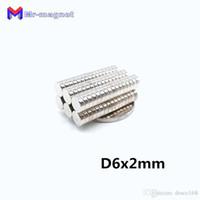 2019 imanes 100Pcs 6x2 aimant néodyme disque permanent N35 NdFeB Petit tour super puissants aimants puissants magnétiques 6 mm x 2 mm