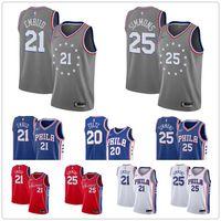 f1e83e83c Mens 2019 Philadelphia basketball 76ers Jimmy 23 Butler Jersey Joel 21  Embiid ben 25 simmons Allen 3 Iverson stitched Jerseys