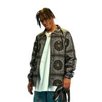 2019 New High Street Europe Street Куртка Хип-Хоп Пуловер Бандана Куртка Мужское Пальто Мода Мужчины Высокого Качества Повседневная Jacekts
