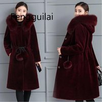 Winter Women Long Fur Coat Warm ladies jacket High Quality W...