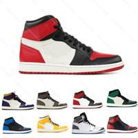 Homens novos 1s UNC Blue Chill Love 1 Wmns Panda Panda Phantom Sail Vermelho Meados Multicolor Neutro cinza carmesim sapatos de basquete sapatos com caixa 5.5-13