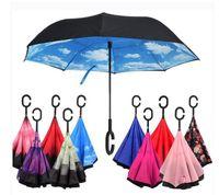 C-Hand Reverse-Regenschirme winddicht umgekehrter Doppelschicht umgekehrter Regenschirm im Inneren des auswärts winddichten Regenschirms invertierter Regenschirme LSK90