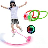 Outdoor Fun Toys Balls Elastic LED Flash Jumping Foot Force ...
