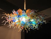 멋진 LED 펜던트 램프 무라노 샹들리에 조명기구 컬러 유리 거품 샹들리에 조명 빌라 거실 식사