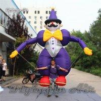 Außenwerbung Gehen Aufblasbare Clown Kostüm 3,5 mt Höhe Handgesteuerte Blow Up Clown Puppe Für Urlaub Parade Zeigen