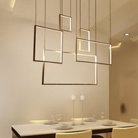 2019 minimalismo creativo moderno luces colgantes led para sala de estar comedor lamparas colgantes ac85-265v lámpara colgante de cuerpo de aluminio