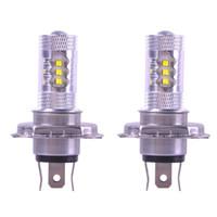 Lampadina dell'automobile 2PCS H4 12V 80W LED 6000K della nebbia di guida chiaro capo lampade Bianco H7