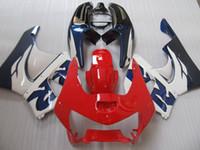 Kit corps de carénage blanc rouge pour HONDA CBR900RR 98 99 CBR 900 RR CBR 900RR CBR900 RR 919 1998 1999 Set de carénage + 7gifts