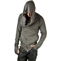 Brand Design Мужчины Толстовка Hop Streetwear ZippeR мода Толстовка мужская Tracksuit Мужчины Assassins Creed Толстовки M-2XL