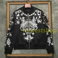 2020 nueva ropa para hombre de la chaqueta de la marca del diseñador 17 esqueleto estrella escudo de impresión tótem chaqueta de deportes del juego de béisbol para hombre de la cremallera de la capa de abrigo