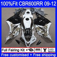 Einspritzung für HONDA CBR 600RR CBR600 RR 2009 2010 2011 2012 282HM.41 CBR 600 RR 600F5 F5 CBR600RR 09 10 11 12 Phoenix White Hot Fairings Kit