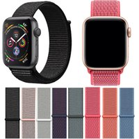 Nuevo color Nylon Loop para Apple Watch Series 4 Tamaño 40/44 mm Suave transpirable tejido Nylon Correa Fit For Apple Watch Iwatch 38 42mm Series 123
