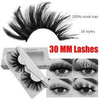 30mm visk cils 100% mignon mignon cheveux faux cils 3D / 5d vaporeux moelleux outils de maquillage multiples multiples gros volume dramatique volume de cils à la main