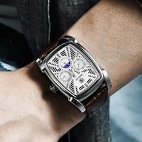 cwp benyar cronografo orologi da uomo rettangolo classico da uomo in pelle da uomo in pelle orologio da uomo di lusso Sport Sport Relogios Masculinos