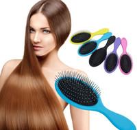 Massage Brosse à cheveux plus récent Démêlant Peigne Peignes pour coussins gonflables à sec Cheveux mouillés Douche Brosse AVEC LOGO Le meilleur cadeau