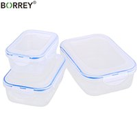 BORREY 3PCS Plastic Storage Box Set Fridge Freezer Storage B...