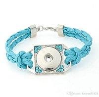 Heiße Großhandelsverschluss-Knopf Armbänder neueste Entwurfs-Art und Weise NOOSA Chunks Lederarmbänder Fit Noosa Chunk DIY Rivca Snaps Jude