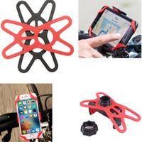 Silicone universel vélo vélo téléphone portable GPS Holder Band Bandage Moto Fixateur guidon Support de montage Support Tie Livraison gratuite