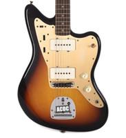 Custom 1959 Jazzmaster Journeyman Faded 3-Tone Sunburst Electric Guitar Wide Lollar Pickups, Alder Body, Amber Switch Cap, Vintage Tuners