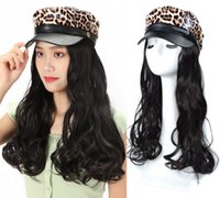 Ladies & Girls Navy Cap Curly Wavy Hair Extension Hair Piece...