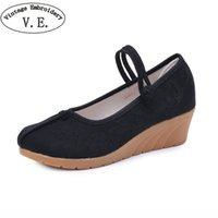 Designer Dress Shoes Vintage Embroidery Women Pump Chinese O...