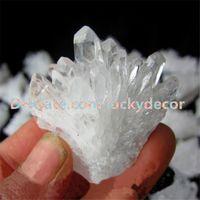 1000g натуральный сырой четкий кварцевый геодельный кристалл кластерные точки случайный размер нерегулярный белый дружи Друзи Druse Gemstone Rocks Minerals образцы