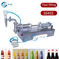 SUS304 tek kafa pnömatik pistonlu sıvı dolum makinası, şampuan, kozmetik, meyve suyu, G1WYD Yarı-otomatik sıvı dolgu, soya sosu, bal
