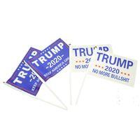 Ручной Trump Mini Флаг 2020 Выборы Флаг С Стик Trump президент Выборы Keep America Great моды украшение дома Баннер VT0632