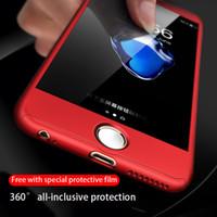 Para iphone 11promax 11Pro 11 xsmax xr x 8p 8 7p 7 6 6SP 360 ° con todo incluido Anti-gota anticolisión duro caso Enviar película templado