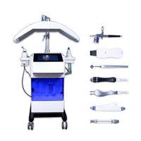 8 en 1 PDT LED Light Therapy Thérapie Oxygène Jet Bio RF Hydro Microdermabrasion Eau Hydra Dermabrasion Spa Machine de nettoyage de pores du visage