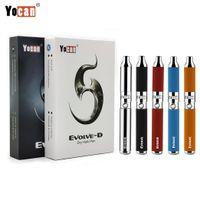Kit originale di Yocan Evolve Evolve-D Kit di sigarette e kit di sigarette Vaporizer Vape a base di erbe essiccate a cera con doppia bobina 650mAh Dab Pen