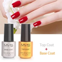 1 Botelote 7 ML Top Coat Base de Casaco Gel Unha Polonês Design Nail Mat Arte Gel Polonês UV LED Soak-Off Multi-uso Topo BaseTSLM1