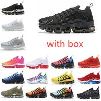 Chaussures de course TN PLUS Métallique Blanc Triple Black Hommes Noirs avec Boîte Entraîneur Sneaker Expédier gratuit