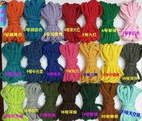 Пряжа 42 цвета хлопчатобумажные веревки плетеные 5 мм цветные 8PLE Accessory Zakka упаковочный тангаг шнур ткани линии линии 30 м