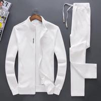 Männer Sportswear Hoodie und Sweatshirts Schwarz Weiß Herbst Winter Jogger Sporting Anzug Herren Sweat Suits Trainingsanzüge Set Plus Size M-4XL