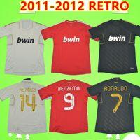 Ronaldo Higuain Benzema Kaka Pepe Sergio Ramos 2011 2012 Real Madrid retrò calcio jersey 11 12 camicia da calcio vintage terzo rosso nero bianco
