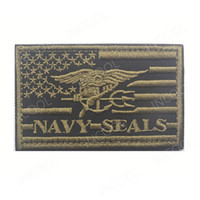 3D Embroidery Patch USA American Flag US Navy Morale Patch Tactical Emblem Appliques Seals Badges Hook&Loop Embroidered Patches