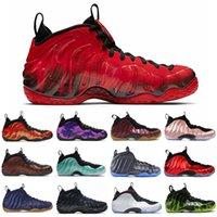 Баскетбольные кроссовки Penny Hardaway мужские Foam One Vandalized Paranorman Obsidian Hyper Crimson Баклажанные мужские кроссовки Спортивные кроссовки 7-13