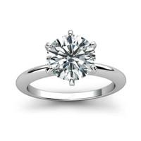 925 حلقة من الفضة الاسترليني 1CT 2ct 3CT النمط الكلاسيكي مجوهرات الماس المويسانتي عصابة حفل زفاف الذكرى الدائري للنساء LY191217