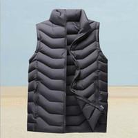 Toptan sonbahar ve kış yeni erkek sıcak rahat aşağı pamuklu yelek çok yönlü ceket