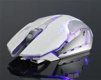 Wiederaufladbare X7 Wireless-LED-Hintergrundbeleuchtung USB Optical Gaming Mouse Ergonomische Sem Fio Fashion Notebook Desktop-Computer Mute Spiele Maus