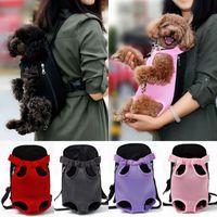 2020 Porte-chien d'été Sac à dos Cat Puppy Pet avant / arrière épaule Carry Sling Bag Pouch Mode Puppy Cat 4 Taille Carriers S-XL