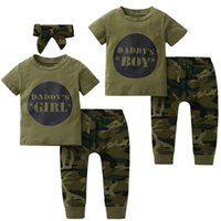 New style baby Boys Girls Clothes set short sleeve letter pr...