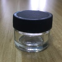 Concentrado de lujo y de bajo precio Negro Cap 6ML Envases Sin cuello bote vacío para Aceites Ceras proveedores al por mayor en línea