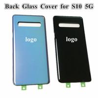 SAMSUNG Galaxy S10 5G sürümü VS G977 G977F G977B Pil Geri Cam Kapak + logosu Arka Kapı Konut Case S10 için Orjinal arka plakaları