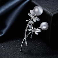2019 Europe and the United States new high- end pearl brooch ...
