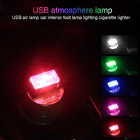 Car USB LED Atmosphere Lights Decorative Lamp Emergency Ligh...