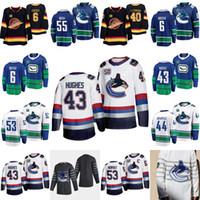 43 كوين هيوز فانكوفر Canucks 50th Seasons جيرسي بو هورفات بروك بويسر إلياس بيترزسون أنطوان روسل إريكسسون أليكس بيغا بيرسون
