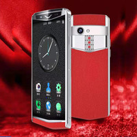 K dokunmatik Mini'nin 4g lte telefon çift sim 3 + 64 GB cep telefonu, mini telefon deri çanta whatsapp facebook öğrenciler için akıllı telefonlar DHL Ücretsiz android