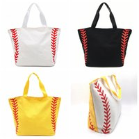 4Styles Toile sac de baseball Fourre-tout Sacs de sport Casual Sac de Softball Football Football Basketball fashion lady fourre-tout FFA1836